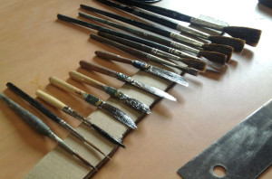 Piceaux et brosses à filets